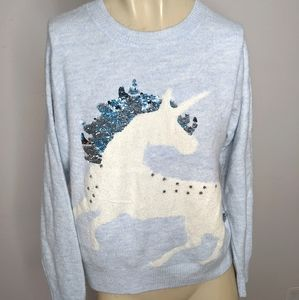 Justice unicorn sweater sequin